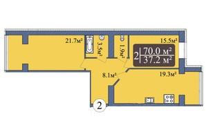 ЖК Мрія Миколаїв: планування 2-кімнатної квартири 70 м²