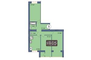 ЖК Мрія Миколаїв: планування 3-кімнатної квартири 84.2 м²