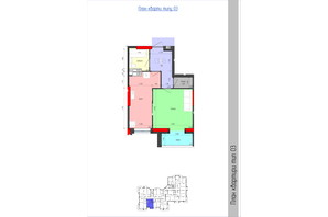 ЖК Мистецькі Ворота: планування 1-кімнатної квартири 42.18 м²