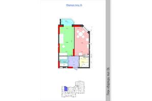ЖК Мистецькі Ворота: планування 1-кімнатної квартири 50.36 м²