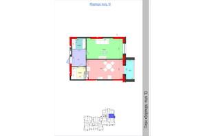 ЖК Мистецькі Ворота: планування 1-кімнатної квартири 50.65 м²