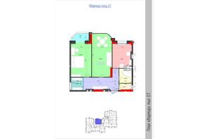 ЖК Мистецькі Ворота: планировка 2-комнатной квартиры 66.86 м²