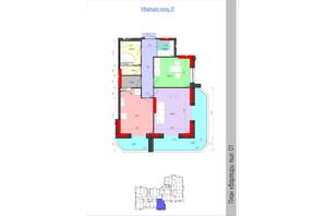 ЖК Мистецькі Ворота: планировка 2-комнатной квартиры 69.35 м²