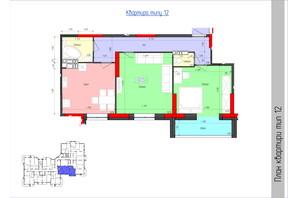 ЖК Мистецькі Ворота: планировка 2-комнатной квартиры 70.63 м²