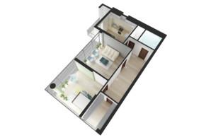 ЖК НАЦІОНАЛЬНИЙ: планування 2-кімнатної квартири 77.41 м²