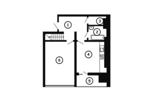 ЖК НАЦІОНАЛЬНИЙ: планировка 3-комнатной квартиры 115 м²