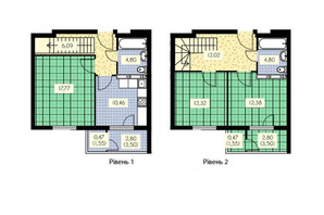 ЖК Набережный: планировка 3-комнатной квартиры 126.8 м²