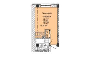 ЖК Надія: планування 1-кімнатної квартири 20.9 м²