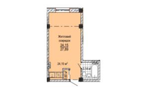 ЖК Надия: планировка 1-комнатной квартиры 26 м²