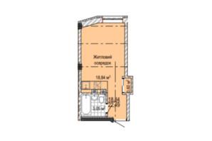 ЖК Надия: планировка 1-комнатной квартиры 22.5 м²