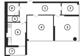 ЖК Національний: планування 2-кімнатної квартири 78 м²