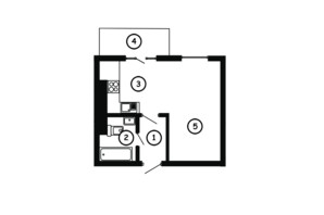 ЖК Національний: планування 1-кімнатної квартири 30.5 м²
