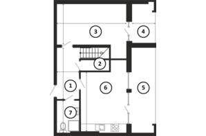 ЖК Национальный: планировка 4-комнатной квартиры 143 м²