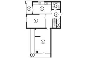 ЖК Национальный: планировка 5-комнатной квартиры 169 м²