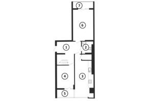 ЖК Национальный: планировка 4-комнатной квартиры 136 м²
