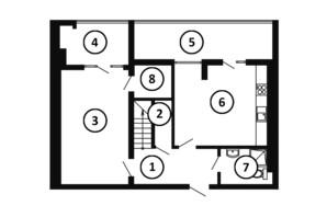 ЖК Национальный: планировка 4-комнатной квартиры 132 м²