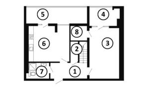 ЖК Национальный: планировка 3-комнатной квартиры 126 м²