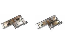 ЖК Национальный: планировка 4-комнатной квартиры 131 м²