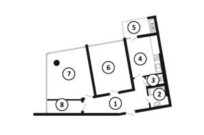 ЖК Национальный: планировка 2-комнатной квартиры 78 м²
