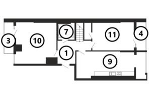 ЖК Национальный: планировка 5-комнатной квартиры 168 м²