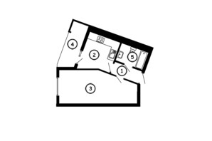 ЖК Национальный: планировка 1-комнатной квартиры 35 м²