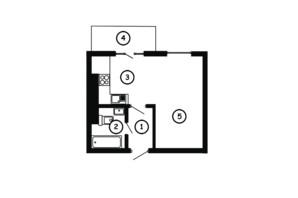ЖК Национальный: планировка 1-комнатной квартиры 30.5 м²