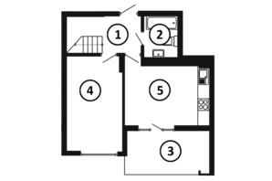 ЖК Национальный: планировка 3-комнатной квартиры 103 м²