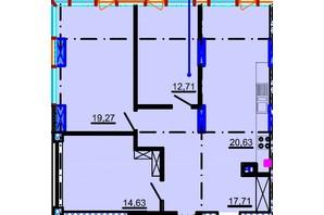 ЖК Небо: планировка 3-комнатной квартиры 94.16 м²