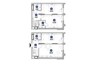 ЖК Nordica Residence: планировка 3-комнатной квартиры 112.18 м²