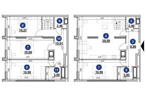 ЖК Nordica Residence: планировка 4-комнатной квартиры 140.29 м²