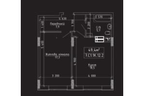 ЖК Нова Буча: планування 1-кімнатної квартири 49 м²