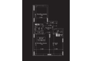 ЖК Нова Буча: планування 2-кімнатної квартири 62 м²