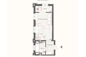 ЖК Новая Англия: планировка 1-комнатной квартиры 28 м²