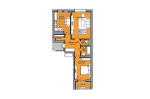 ЖК Нове життя: планування 2-кімнатної квартири 70 м²