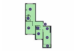 ЖК Новопечерська Вежа: планировка 3-комнатной квартиры 128.5 м²