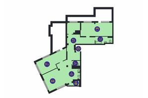 ЖК Новопечерська Вежа: планировка 3-комнатной квартиры 151.1 м²