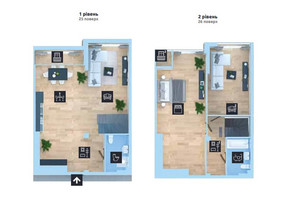 ЖК Новопечерська Вежа: планировка 3-комнатной квартиры 144.2 м²