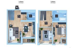 ЖК Новопечерська Вежа: планировка 3-комнатной квартиры 100.3 м²