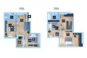ЖК Новопечерська Вежа: планировка 3-комнатной квартиры 108.1 м²
