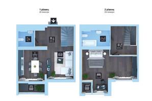 ЖК Новопечерська Вежа: планування 2-кімнатної квартири 88.1 м²