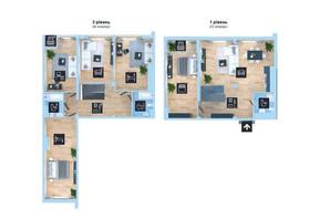 ЖК Новопечерська Вежа: планування 5-кімнатної квартири 198.5 м²