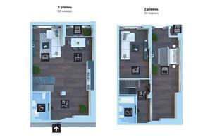 ЖК Новопечерська Вежа: планування 3-кімнатної квартири 131.2 м²