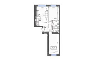 ЖК Новые Метры PARK: планировка 2-комнатной квартиры 61.5 м²