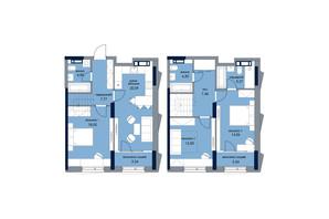 ЖК «Новый Автограф»: планировка 3-комнатной квартиры 101.43 м²