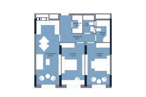 ЖК «Новий Автограф»: планування 2-кімнатної квартири 78.94 м²