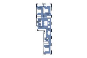 ЖК «Новий Автограф»: планування 3-кімнатної квартири 99.48 м²