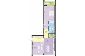 ЖК Новий Поділ: планування 2-кімнатної квартири 76.84 м²