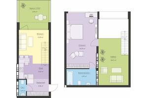 ЖК Новий Поділ: планування 2-кімнатної квартири 82.25 м²