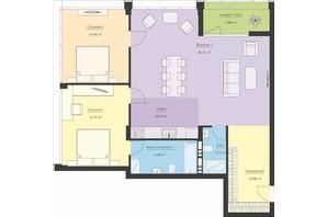 ЖК Новий Поділ: планування 3-кімнатної квартири 97.82 м²