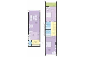 ЖК Новий Поділ: планування 3-кімнатної квартири 97.97 м²